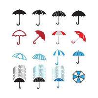 Conjunto de coleta de guarda-chuva vetor