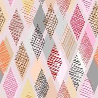Doodle de cor em forma de losango com fundo transparente vetor