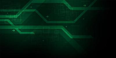 Fundo abstrato verde digital linhas geométricas vetor