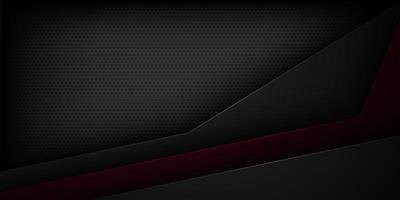 Preto abstrato preto e vermelho corta fundo de papel vetor