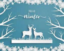 Cartão de celebração de natal vetor