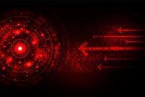 Conceito de tecnologia digital rápido vermelho brilhante