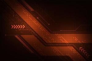 Fundo de tecnologia geométrica abstrata ed vetor