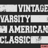 Selo vintage clássico americano vetor