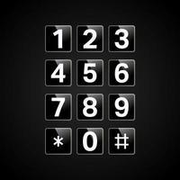 Teclado digital com números vetor