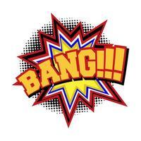 Efeito sonoro de texto em quadrinhos BANG
