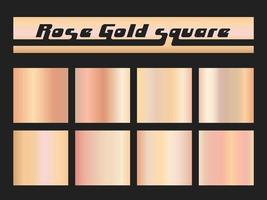 Praça de gradiente ouro rosa vetor