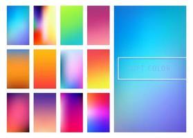 Fundo multicolorido suave de gradientes vetor