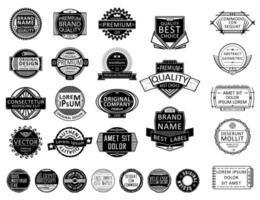 Coleção de selos de crachá vetor