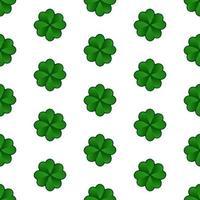 Padrão sem emenda de trevo de St Patricks Day