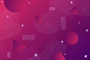 Fundo de formas retrô geométrico roxo vermelho colorido vetor