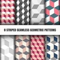 Conjunto de padrão geométrico vetor