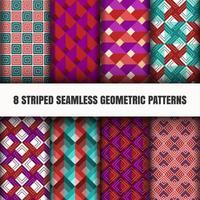 Conjunto de padrões geométricos sem emenda vetor