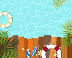Lindo verão banner e piscina cartaz cartão vetor