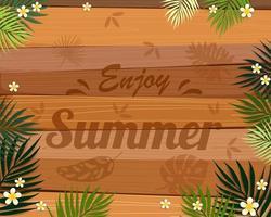 Lindo cartão de banner e cartaz de verão