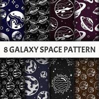 Conjunto de galáxia padrão. vetor