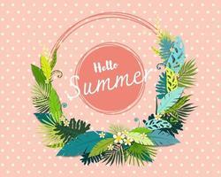 Lindo cartão de banner e cartaz de verão vetor