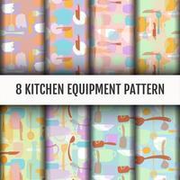 Conjunto de ferramentas de cozinha padrão vetor