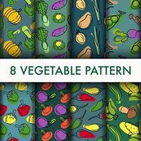 Conjunto de vegetais padrão vetor