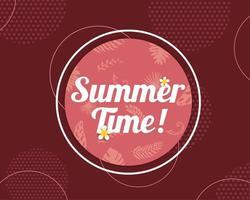 Lindo verão banner e cartaz cartão liso