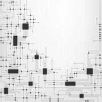 Projeto abstrato de circuito eletrônico vetor