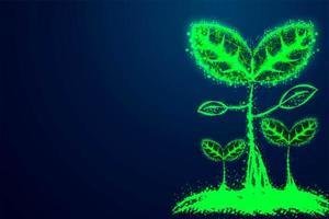 sementes que crescem polys verdes vetor