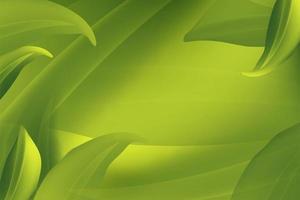 Folhas verdes, fluindo ao vento vetor