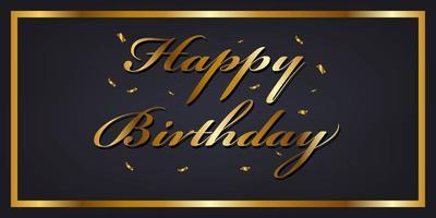 Banner de feliz aniversário ouro
