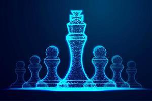 Sucesso do líder Peças de xadrez vetor