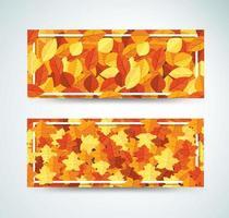 Banner de quadro de folhas de outono