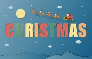Cartão de saudação de celebração de Natal