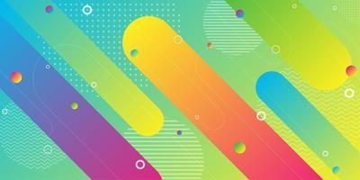 Fundo colorido gradiente forma geométrica diagonal vetor