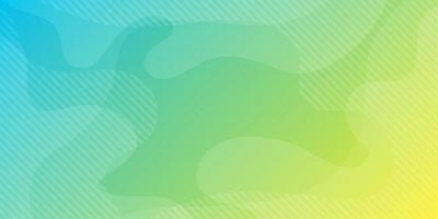 Fundo de formas fluidas abstrato verde azul vetor
