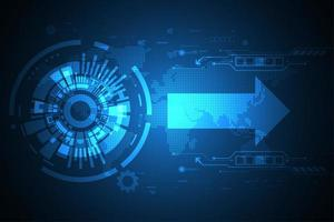 Conceito abstrato global de tecnologia digital vetor