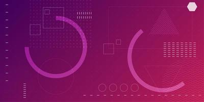 Fundo de círculo parcial gradiente fúcsia rosa