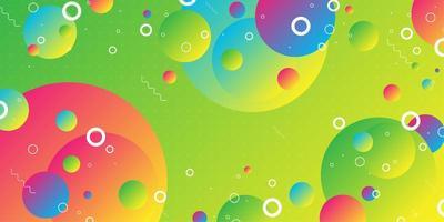 Formas de esfera gradiente sobrepostas coloridas vetor