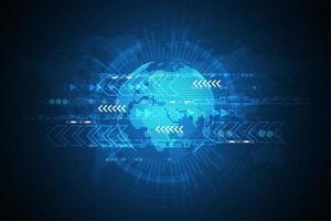 Conceito de tecnologia global futurista vetor