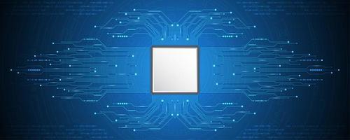Conceito de tecnologia de placa de circuito da CPU vetor