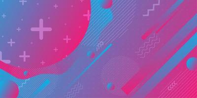 Formas abstratas gradientes coloridas de rosa e turquesas vetor