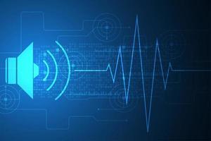 Volume abstrato e conceito de onda sonora vetor