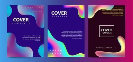 Conjunto de capas de cores fluidas