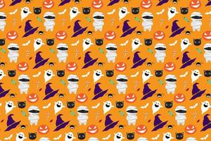 Halloween padrão de fundo