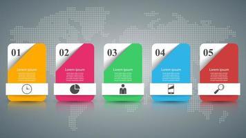 Ilustração 3D digital abstrata Infographic. vetor