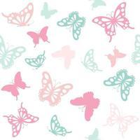 Sem costura de fundo com borboletas. vetor