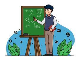 ilustração de personagem de dia dos professores vetor