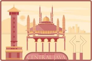 Grande Mesquita de Java Central vetor