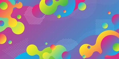 Formas geométricas gradientes sobrepostas multicoloridas brilhantes vetor