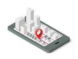Cidade isométrica de mapa 3D