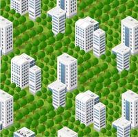 Floresta de árvores 3d isométrica vetor