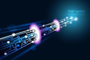 Tecnologia de fibra óptica de alta velocidade vetor